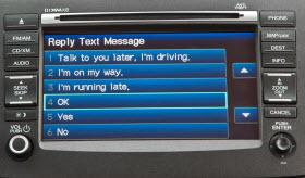 2012 Honda CR-V texting feature. Photo by Honda.
