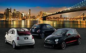 Fiat 500 models sold by Gilt (c) Gilt