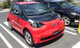 This Scion iQ electric vehicle was spotted in Torrance, Calif. Photo by Ed Kim.