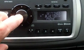 Bluetooth pairing in a Toyota Yaris.