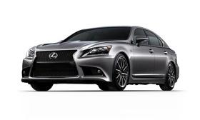 The redesigned 2013 Lexus LS luxury sedan reaches showrooms this fall. Photo by Lexus.