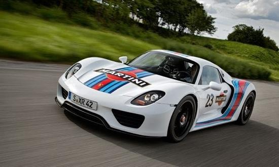 The Martini Porsche 918 Spyder testing. Photo by Porsche.