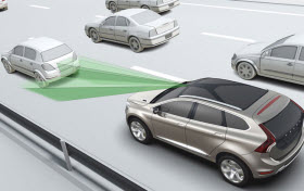 Volvo Autonomous Emergency Braking. Photo by Volvo.