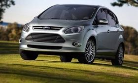The Ford C-Max Energi plug-in hybrid uses a platform shared with the Focus. Photo by Ford.