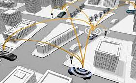 Daimler and simTD testing car-to-car and car-to-infrastructure wireless systems (c) Daimler