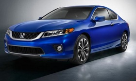 A front view of the 2013 Honda Accord coupe. Photo by Honda.