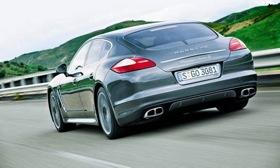 The wagon, which also could be called a shooting brake, was conceived after customers indicated demand for a more versatile version of the Panamera, one with more luggage space than today's liftback model. Photo by Porsche.