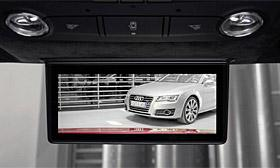 Audi digital LED rear view mirror