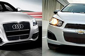 Audi A3 and Chevrolet Sonic (c) Audi, GM