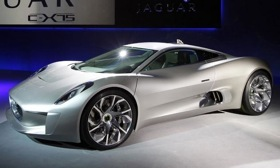 Production of the Jaguar C-X75 is set to begin in 2013. Photo courtesy of Autoweek.