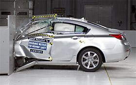 IIHS frontal crash (c) IIHS