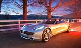 The Fisker Karma plug-in hybrid uses a lithium-ion battery pack.