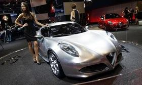 The Alfa Romeo 4C on display in Frankfurt last year. Photo courtesy of Autoweek.
