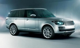 The upcoming Range Rover features a front end redesign that references the Evoque. Photo courtesy of Autoweek.