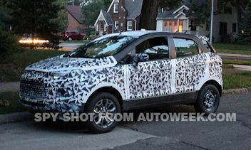 Underneath that camouflage is the Ford EcoSport crossover. (Photo by HADI KADRI/AUTOWEEK)