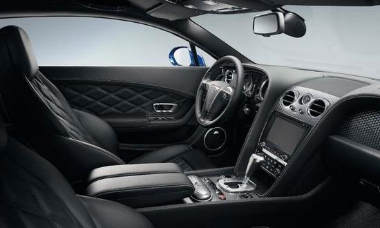 The interior of the Bentley Continental GT Speed. Photo by Bentley.