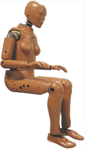 Female Crash Test Dummy. Photo courtesy of Auto Types.