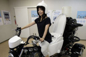 Toilet Trike Neo. Photo courtesy of AP Photo/Koji Sasahara.