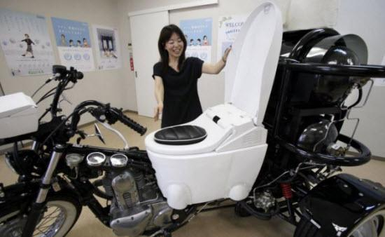 Toilet Bike Neo. Photo courtesy of AP Photo/Koji Sasahara.