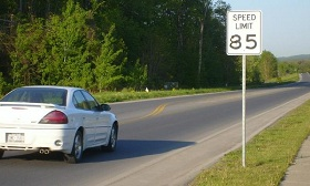 There are already roads in Texas and Utah where the posted speed limit is 80 mph. (© Autoweek)