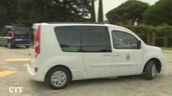 Pope Benedict XVI photo from Renault video screenshot