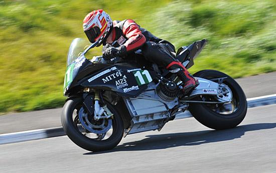 MIT electric bike at Isle of Man TT 2011