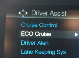 Ford Fusion Hybrid ECO Cruise.