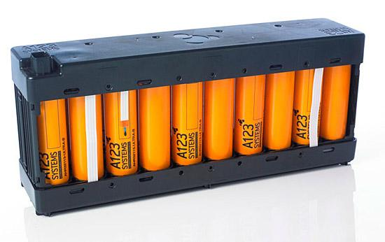 A123 Systems battery