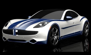 The Fisker Karma Riverside package celebrates American racing heritage. (© Fisker Automotive)