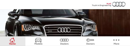 Audi Mobile Site Screenshot