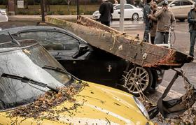 Damaged cars in NYC photo by Patrick McFall