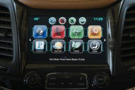 2014 Chevy Malibu MyLink system. Photo by GM.