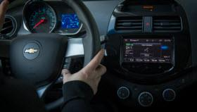 Siri Eyes Free integration in the Chevy Spark. Photo by General Motors.