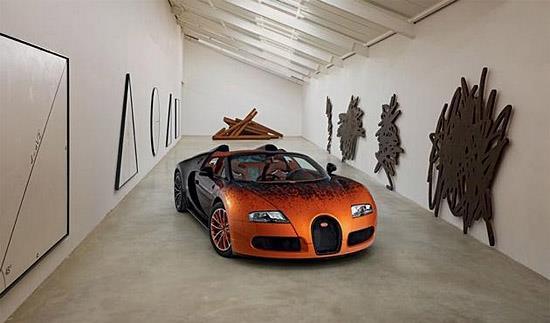 Bugatti Veyron by Bernar Venet (c) Bugatti