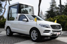 Mercedes-Benz popemobile. Photo by Mercedes-Benz.