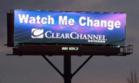 Electronic billboard. Photo courtesy of Scenic America.