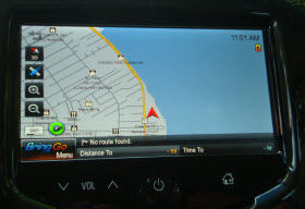 Chevy MyLink with Bringo nav app.