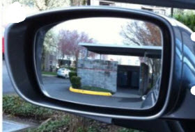 Blind spot mirror. Photo courtesy of Optic Letters.