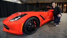 Super Bowl MVP Joe Flacco and his 2014 Corvette Stingray