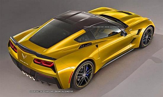 Corvette ZR1 2015 rendering (c) Chris Doane/Autoweek