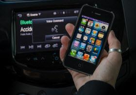 Chevy Spark MyLink radio. Photo by GM.