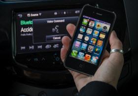 Chevy Spark MyLink radio. Photo by GM.