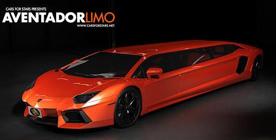Lamborghini Aventador limo (c) Cars for Stars