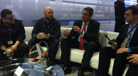 GM president Mark Reuss meets the tech press at the New York Auto Show.