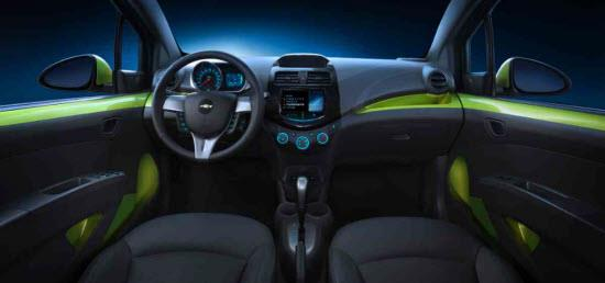 2013 Chevy Spark Interior. Photo by GM.