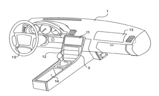 Apple car infotainment patent. Image courtesy of USPTO.