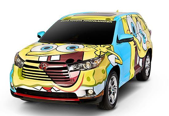 SpongeBob Toyota Highlander (c) Toyota
