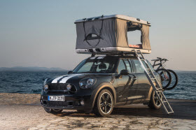 MINI Countryman ALL4 Camp roof top tent. Photo by Mini.
