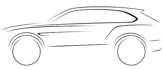 Bentley SUV sketch (c) Bentley