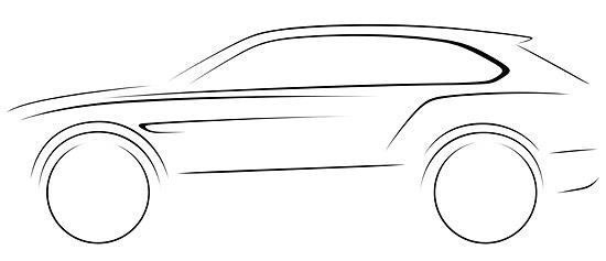 Bentley SUV sketch (c) Bentley